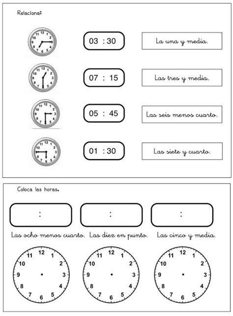 hora es ejercicio  clase de espanol espagnol