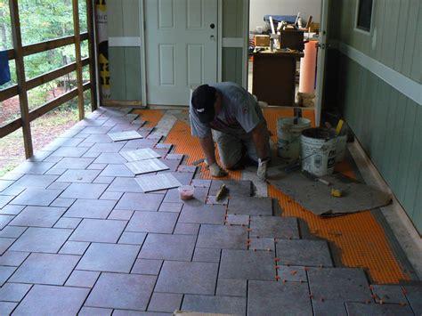 wood porch   tile deck professional deck builder