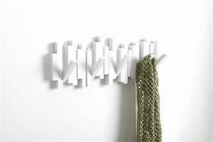 Porte Manteau Mural Blanc : porte manteau design mural sticks noir ~ Melissatoandfro.com Idées de Décoration