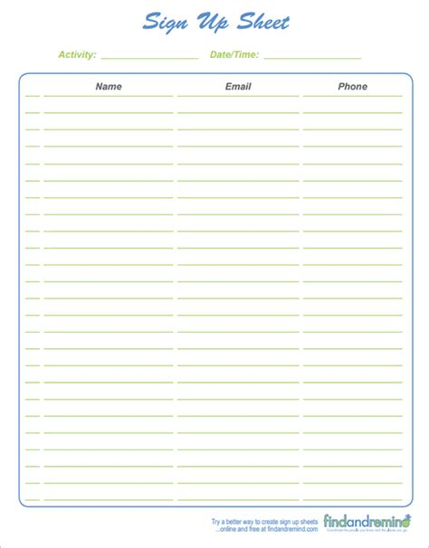 Free Sign In Sheet Template by 4 Sign In Sheet Templates Excel Xlts