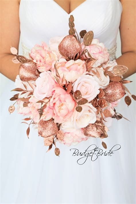 Rose Gold Wedding Bouquet