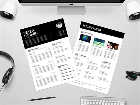 10 all time best free resume cv templates in word psd