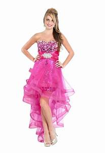Hot Pink Prom Dresses   Very cute and unique pink high low ...