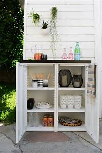 Buffet Metal Ikea : diy outdoor buffet 2 ikea metal cabinets and a custom tiled top create this modern outdoor ~ Teatrodelosmanantiales.com Idées de Décoration