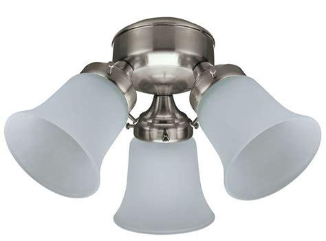 hunter 3 light kit hunter ceiling fan add on light kit 3 light flush mount