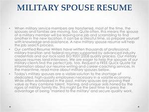 Military resumes for Military spouse resume help