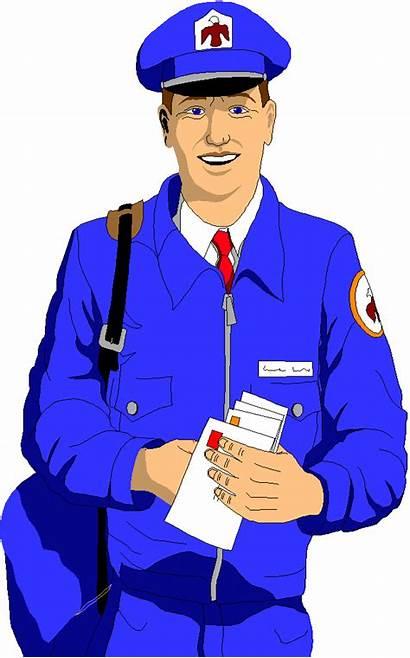 Clipart Mailman Postman Mail Clip Cliparts Transparent