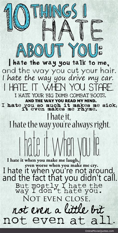 I Hate You Quotes Quotesgram