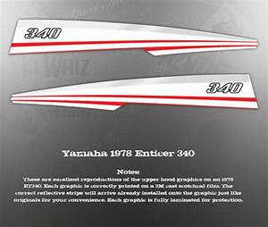 Yamaha 1978 Enticer 340 Hood Upper Decal Graphic Set