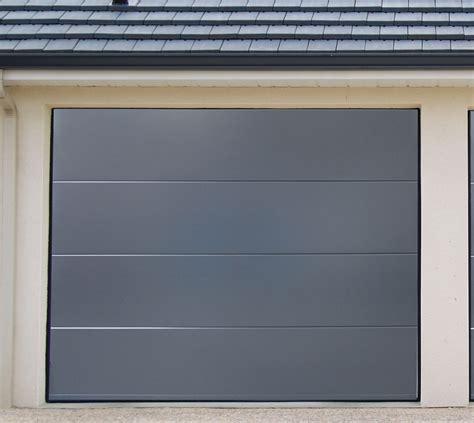 porte de garage acier sectionnelles pre montee anthracite vial menuiserie cuisine jardin