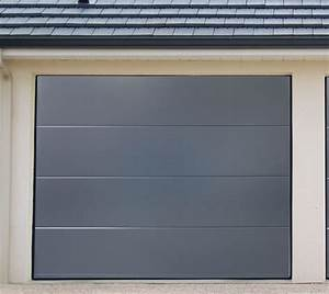porte de garage acier sectionnelles pre montee anthracite With porte de garage vial