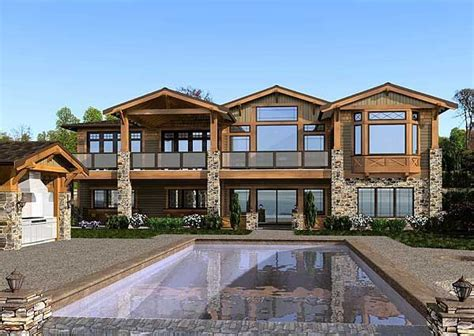Luxury Mountain Craftsman Style House Plans Craftsman