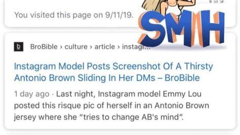 The Instagram Model Antonio Brown DM'd Calls Rape ...