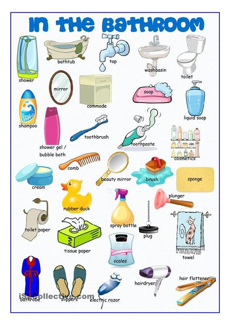Bathroom Picture Dictionary  Pic Dict Pinterest