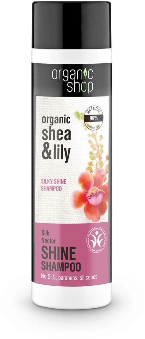 organic shop silk nectar shine shoo 280 ml ecco