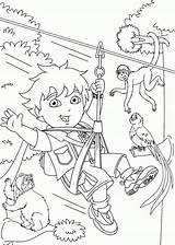 Coloring Go Pages Diego Printable Popular sketch template