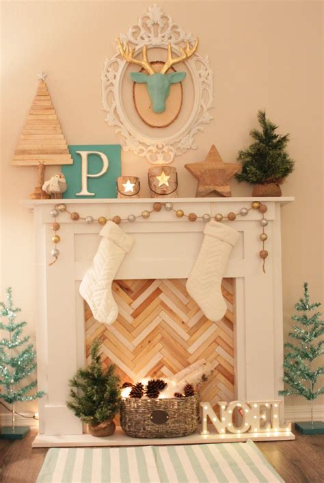Diy Faux Fireplace Mantle Make Do Studio