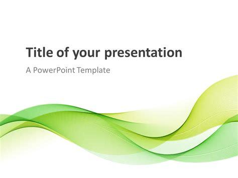 modern green waves powerpoint template presentationgocom
