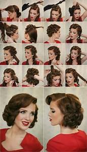 14 Glamorous Retro Hairstyle Tutorials - Pretty Designs