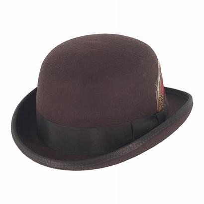 Hat Bowler Brown Hats Gamble Wool Gunn