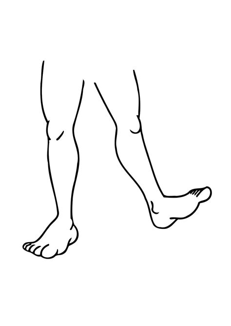 coloring page legs img