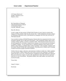 Elementary Teaching Cover Letter Sle Teaching Cover Letter 8 Exles In Word Pdf