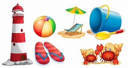 Beach Items Different Lighthouse Vector Kinds Clipart