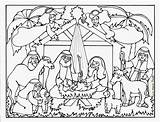 Nativity Line Drawing Jesus Manger Crib Coloring Getdrawings Pages sketch template