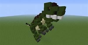 Tyrannosaurus Rex 3D Statue Minecraft Project