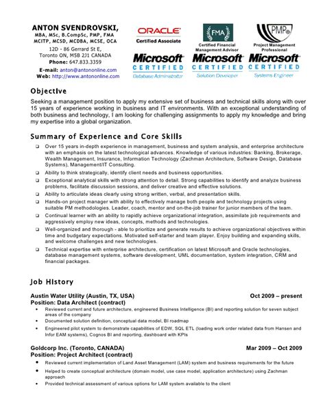 Mcitp Resume Format For Experience by Mcse Engineer Resume
