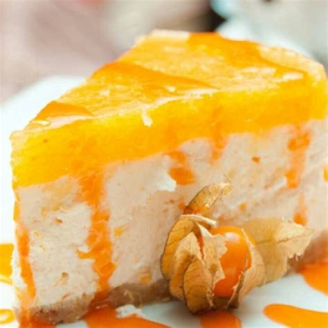 orange desserts orange cheesecake recipe dishmaps