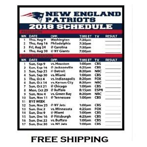 large size   england patriots nfl football schedule