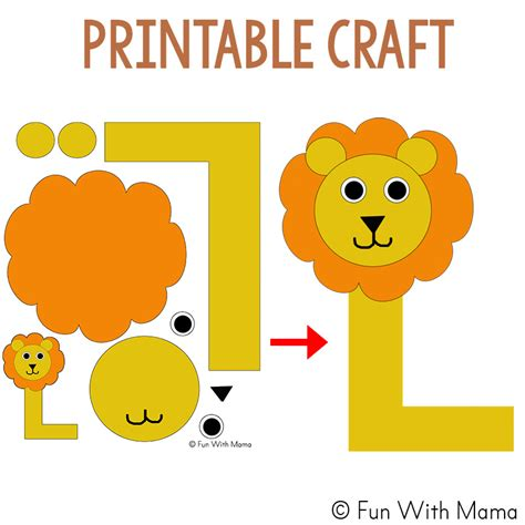 letter l worksheets words with 179 | l is for lion craft