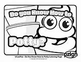 Potty Coloring Pages Know Toilet Go sketch template