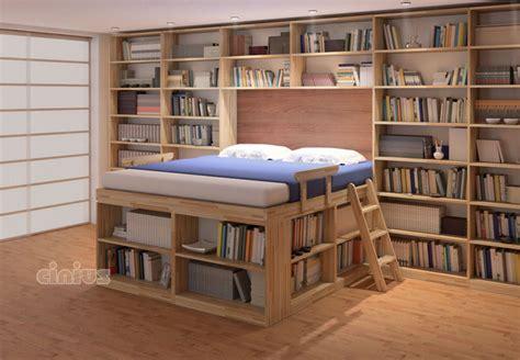 Letto Biblioteca di Cinius: dormire in una libreria