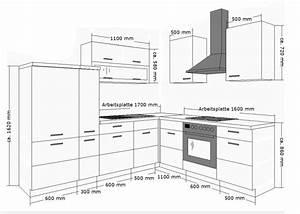 Kuche fabienne 260x220 cm kuchenzeile in schwarz weiss for Küchenzeile tiefe
