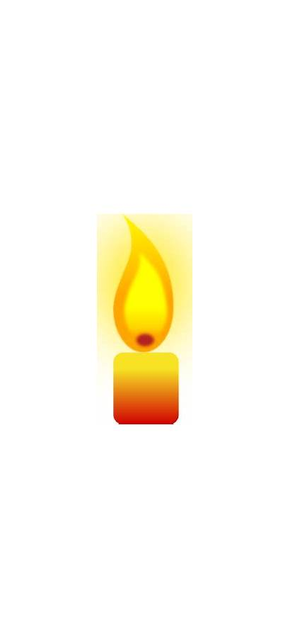 Candle Clip Clipart Burning Vector Yellow Candles
