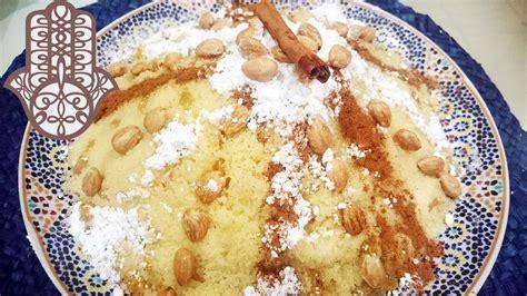 seffa couscous sucre amandes raisins secs youtube