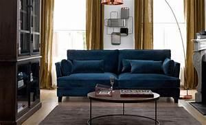 Canapé Velours Ikea : glamour les canap s en velours ~ Teatrodelosmanantiales.com Idées de Décoration