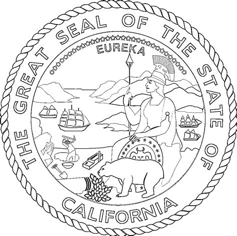 California State Symbols Coloring Pages California Flags Emblems Symbols Outline Maps