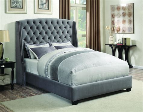 grey fabric queen size bed steal  sofa furniture outlet