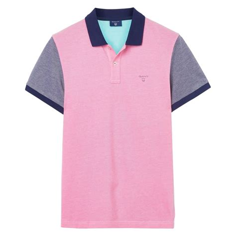 color block polo shirt gant color block oxford polo shirt mens tops t shirts