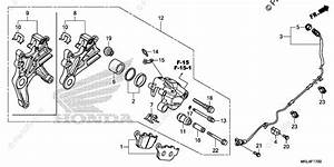 Honda Motorcycle 2019 Oem Parts Diagram For Rear Brake Caliper