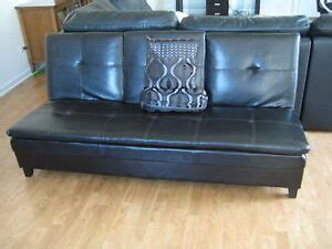 Sofa Bed Cup Holder by Futon Sofa Bed Brown Vinyl Leather With Cup Holders Ebay