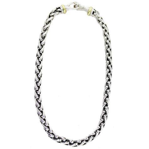 david yurman mm  tone wheat chain necklace boca raton
