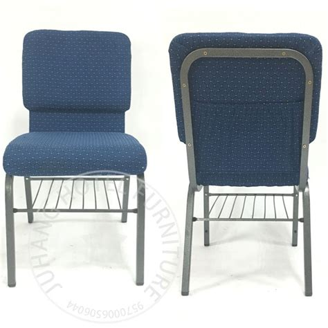 padded conference biue interlocking church chairs for sale