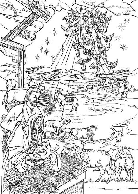 kids  fun  kleurplaten van bijbel kerstverhaal