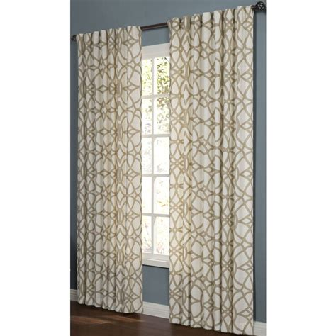 allen roth oberlin curtains shop allen roth oberlin 95 in cotton back tab light