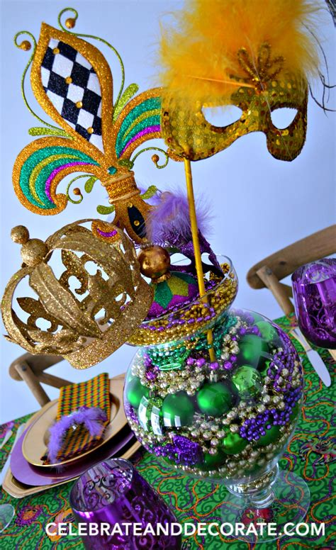 Mardi Gras Tablescape And Dinner For Four Celebrate
