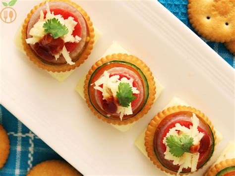canape filling ideas biscuit topping